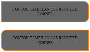 css rounded corner label