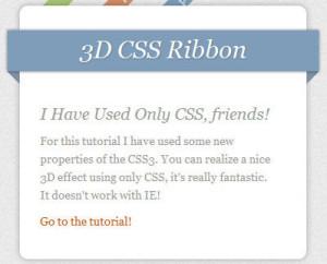 effect ribbon dengan css