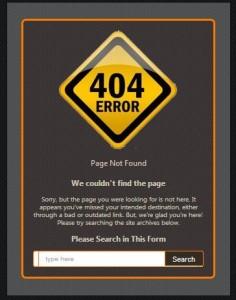 demo error 404 page