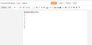 cara menulis di page blogger