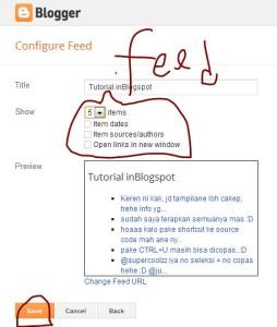 Pengaturan feed