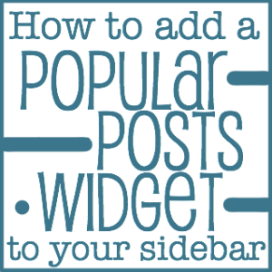 cara membuat popular post widget