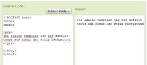 tag pre default