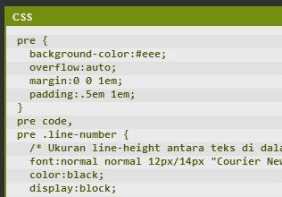 HTML pre tag