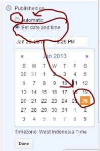 cara setting ulang date artikel