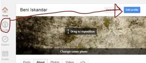 Edit Profile Google Plus