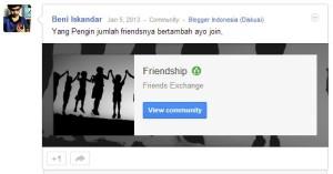 friendship community google plus