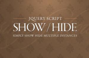 Show hide JQuery