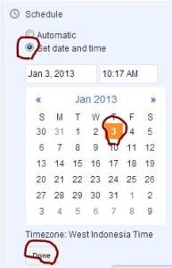 schedule blogger