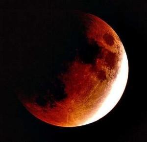 foto gerhana bulan sebagian