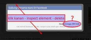 cara menghilangkan pop up like facebook