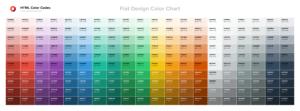 Download Tabel Warna Flat Design Color Chart