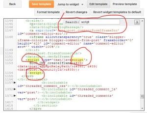 menu search edit template