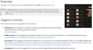 Hasil pengukuran Pagespeed Insights google