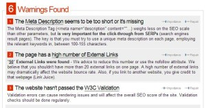 Warning Seo check