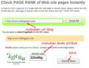 cara mengecek pagerank google