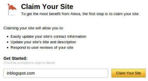 Claim Your Site Alexa
