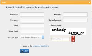 Form pendaftaran adf.ly