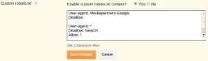 pengaturan robots.txt blogger