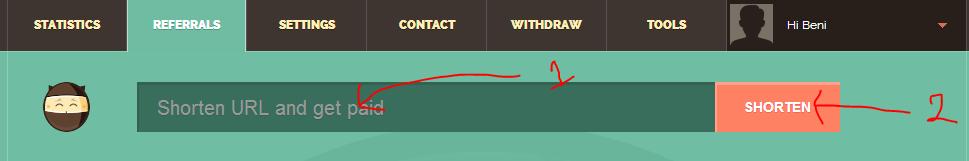 cara menggunakan penyingkat url