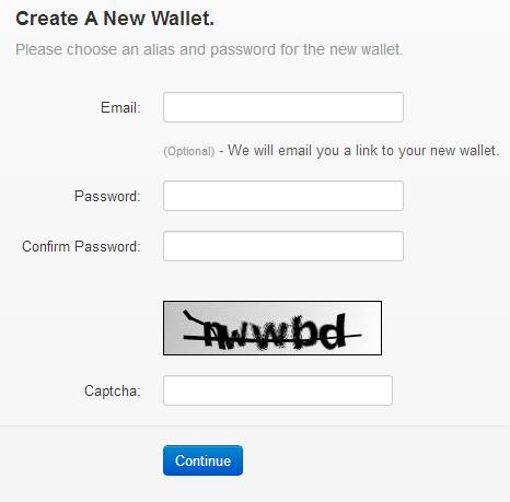 form pendaftran wallet