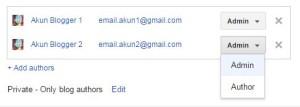 Setting admin akun Blogger