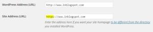 Pengaturan Https di General Setting WordPress