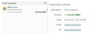 Bukti Pembayaran PropellerAds via Webmoney