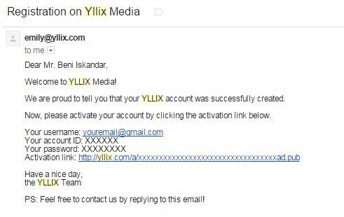 Email Konfirmasi Pendaftaran Yllix