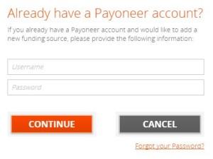 Login Ke akun Payoneer