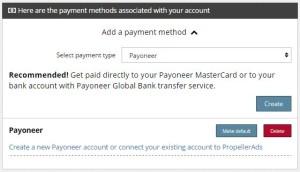 Payout Propeller via Payoneer