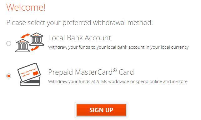 Daftar Prepaid MasterCard Payoneer