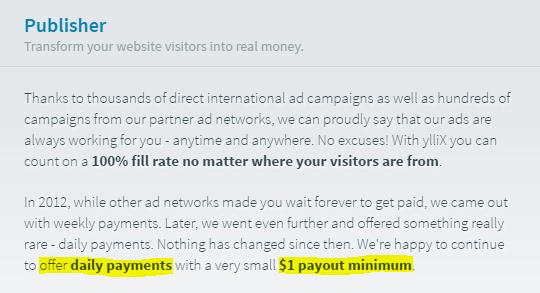 Bukti Minimum Payout dan Pembayaran Harian Yllix
