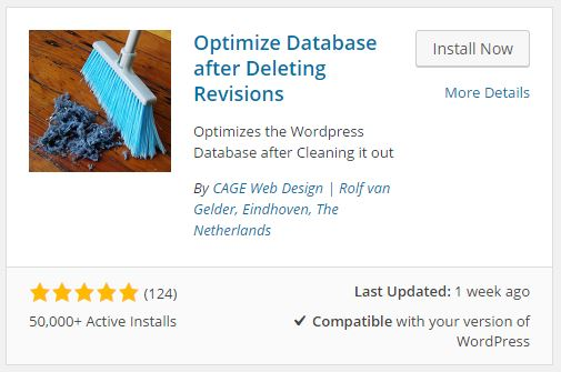 Cara Install Plugin Optimize Database after Deleting Revisions