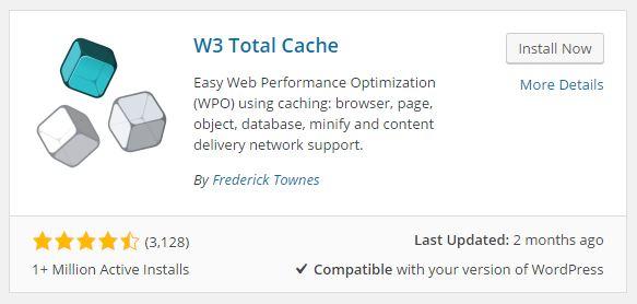 Cara Mempercepat Loding Blog Via W3 Total Cache
