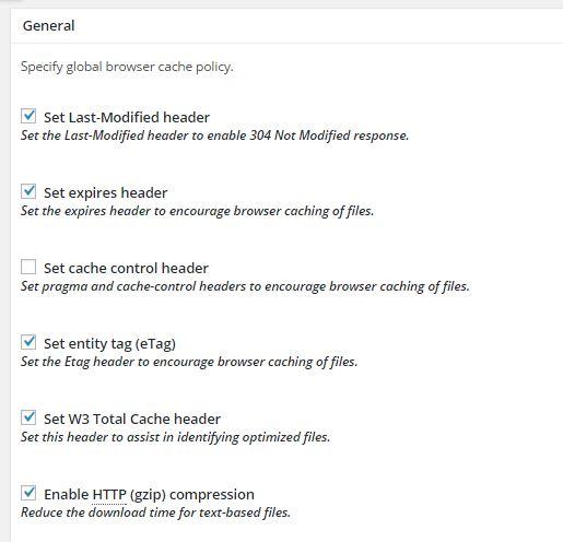 Cara setting Gzip Compression di Plugin W3 Total Cache