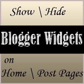 how to show and hide widget blogger