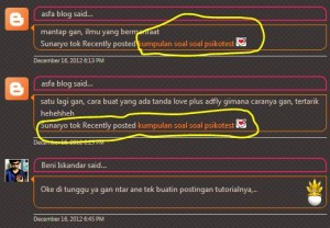commentluv di blogspot