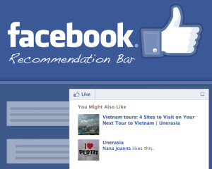 cara memasang recommendations bar facebook
