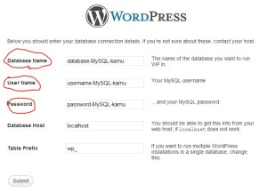 Cara Mengisi Data Install WordPress SelfHosted
