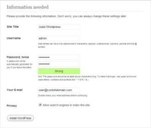 Cara Membuat Usename untuk Mengakses WordPress Selfhosting