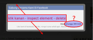 cara menghilangkan pop up like facebook