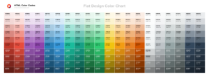 Download Tabel Warna Flat Design Color Chart
