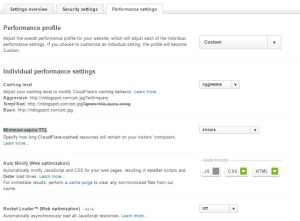 Settingan performance setting Cloudflare