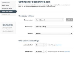 Plan Gratis CDN CloudFLare