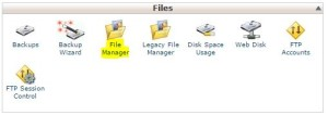 File Manager di Webhosting