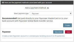 Payout Propeller via Payoneer