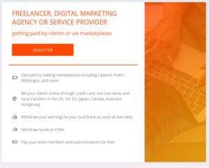 Pilih register as Freelancer