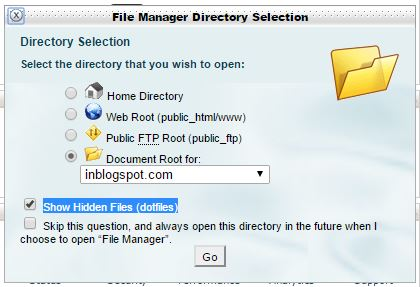 Cara Menampilkan File htaccess di file hosting